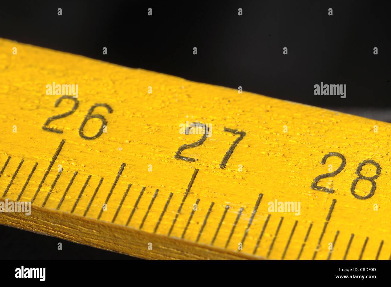 Metric ruler - Stock Image