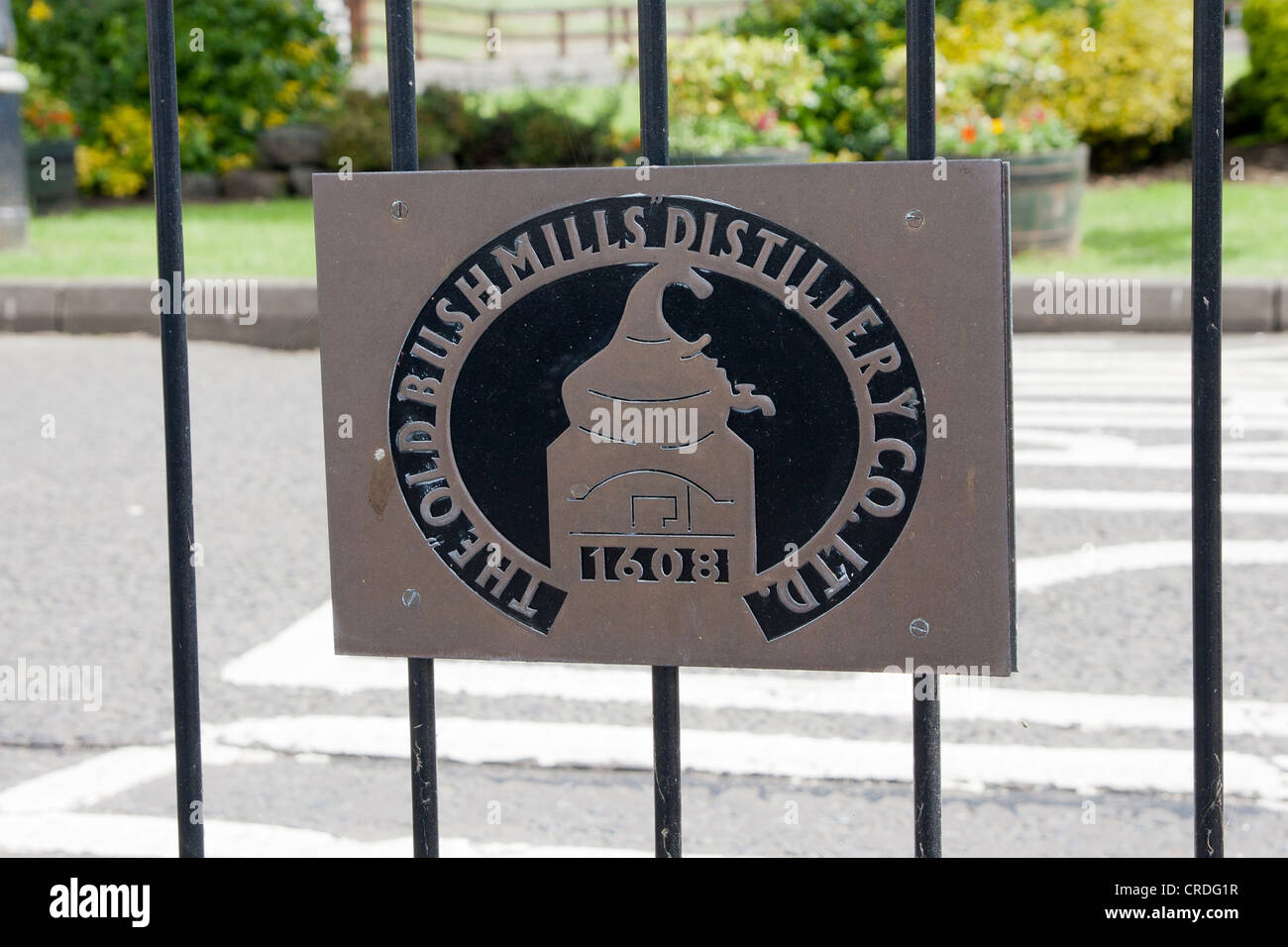 Bushmills distilery sign - Stock Image