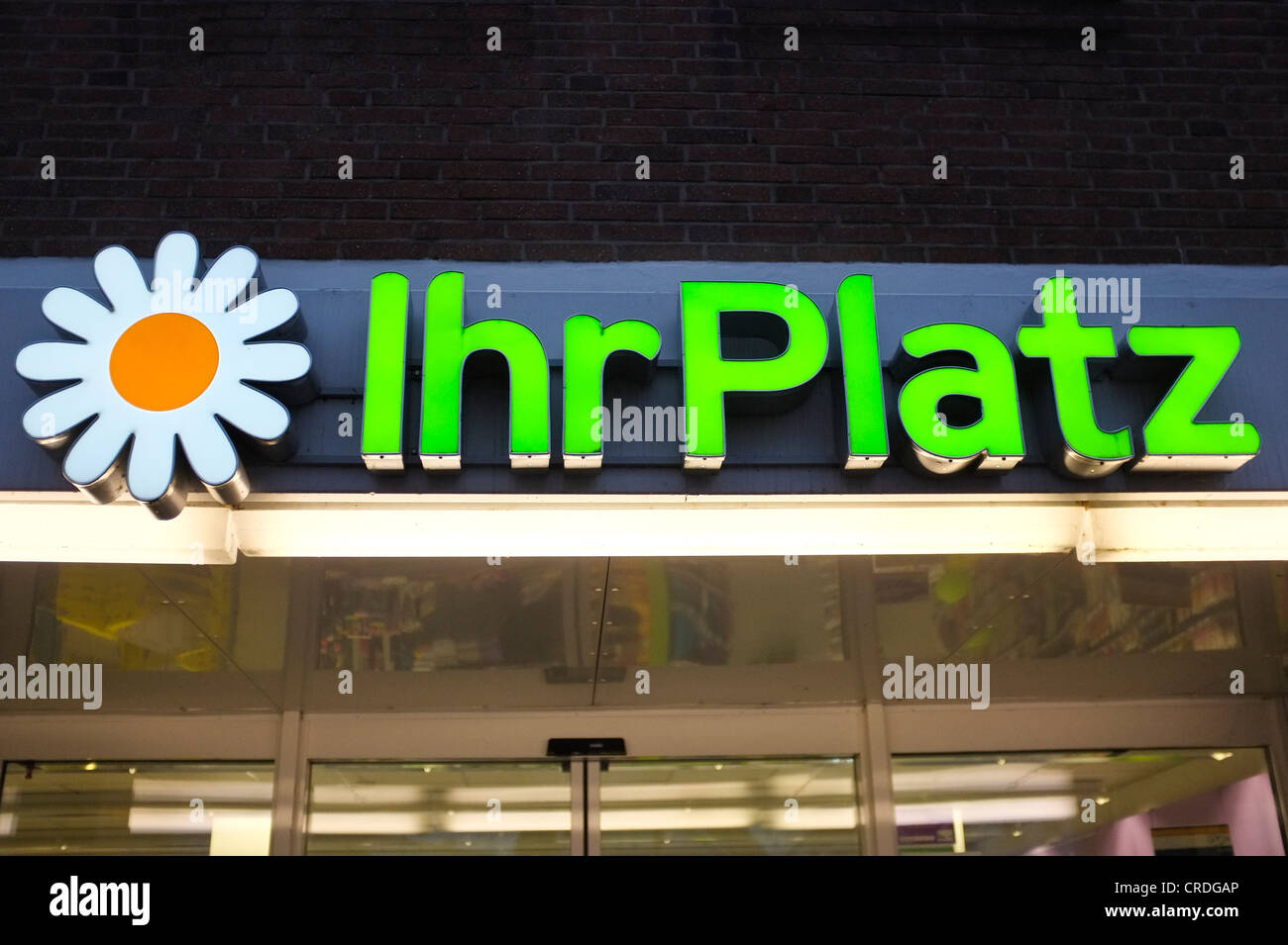 Ihr Platz supermarket in Neustadt, Schleswig-Hostein, Germany, Europe - Stock Image