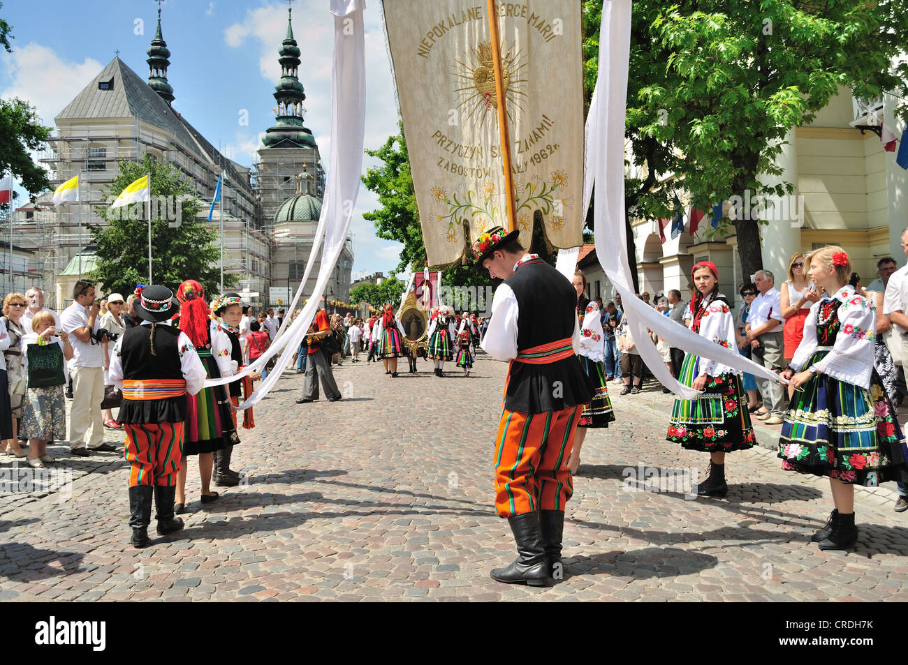 Corpus Christi Day - procession in Lowicz. Stock Photo