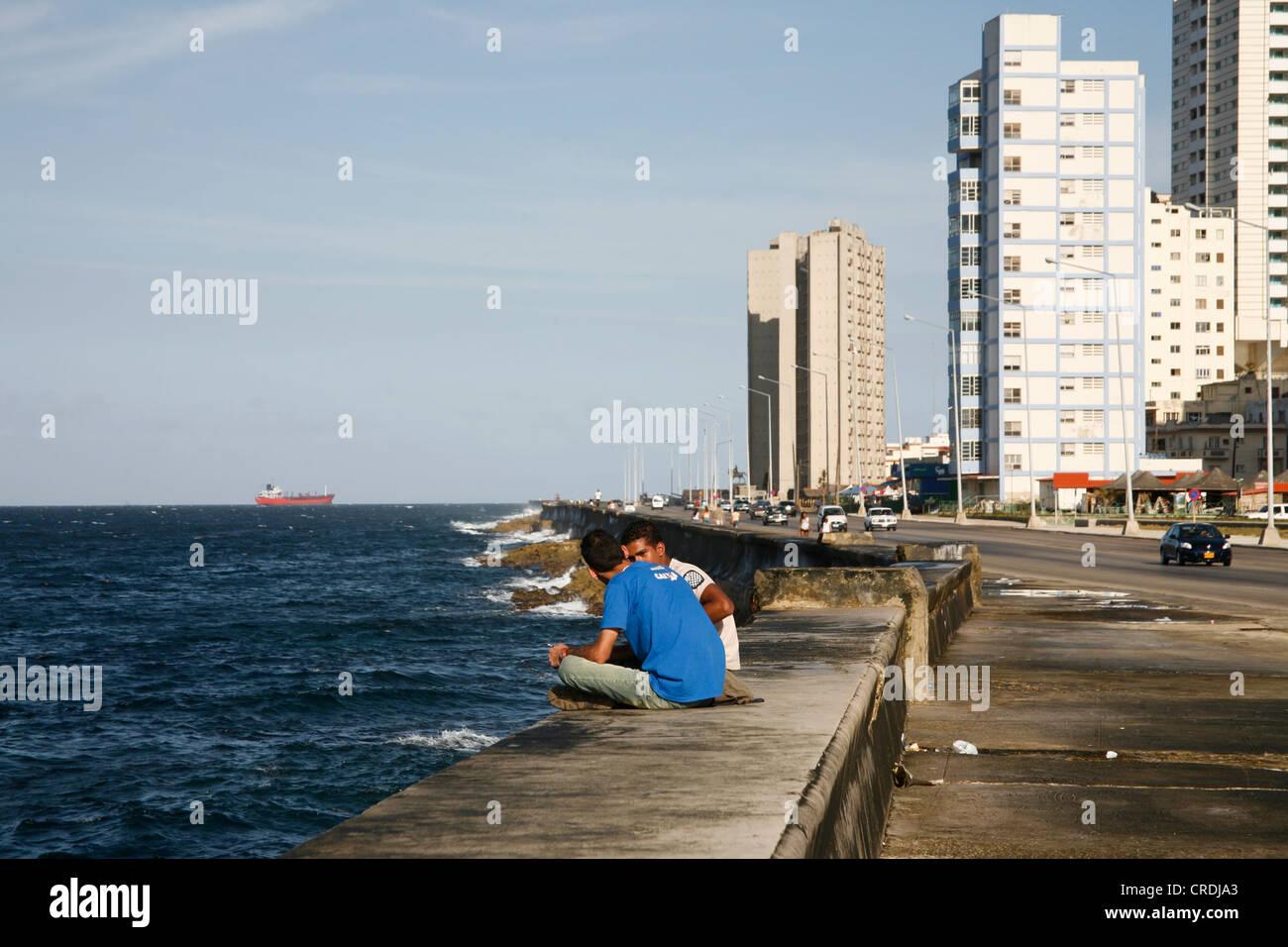 The Malecon in Havana, Cuba, Greater Antilles, Caribbean - Stock Image