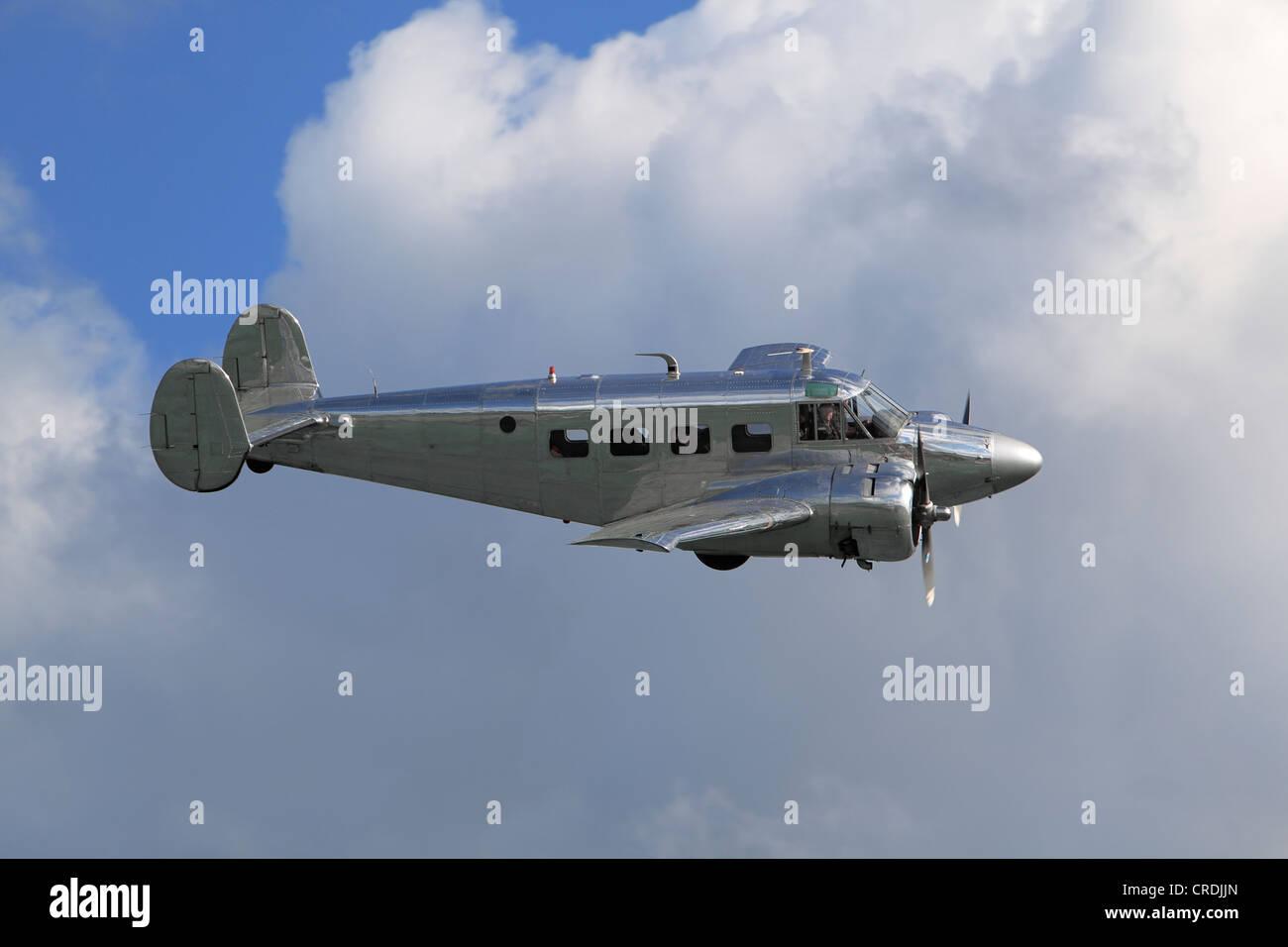 Beech Aircraft Corporation, Beechcraft 18, C-45 Expeditor, twin-engine light utility aircraft - Stock Image