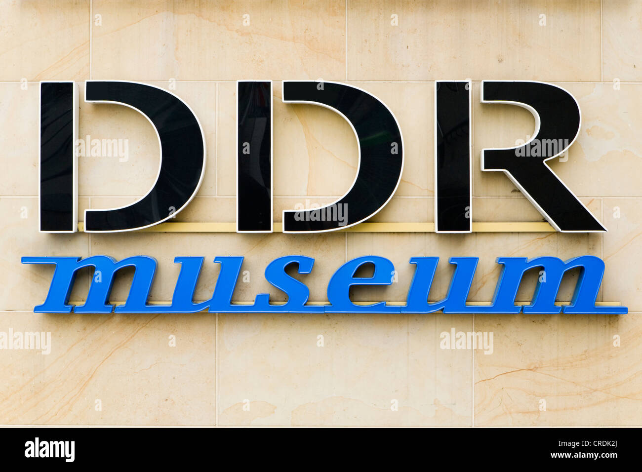 Logo of the DDR Museum, Berlin, Germany, Europe - Stock Image