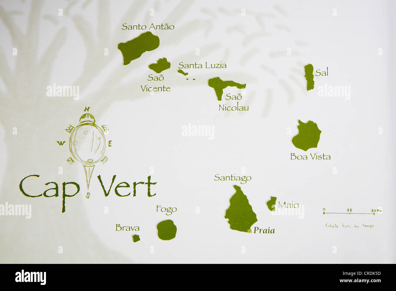 map of the Republic of Cape Verde, Cap Verde Islands, Cabo Verde ...