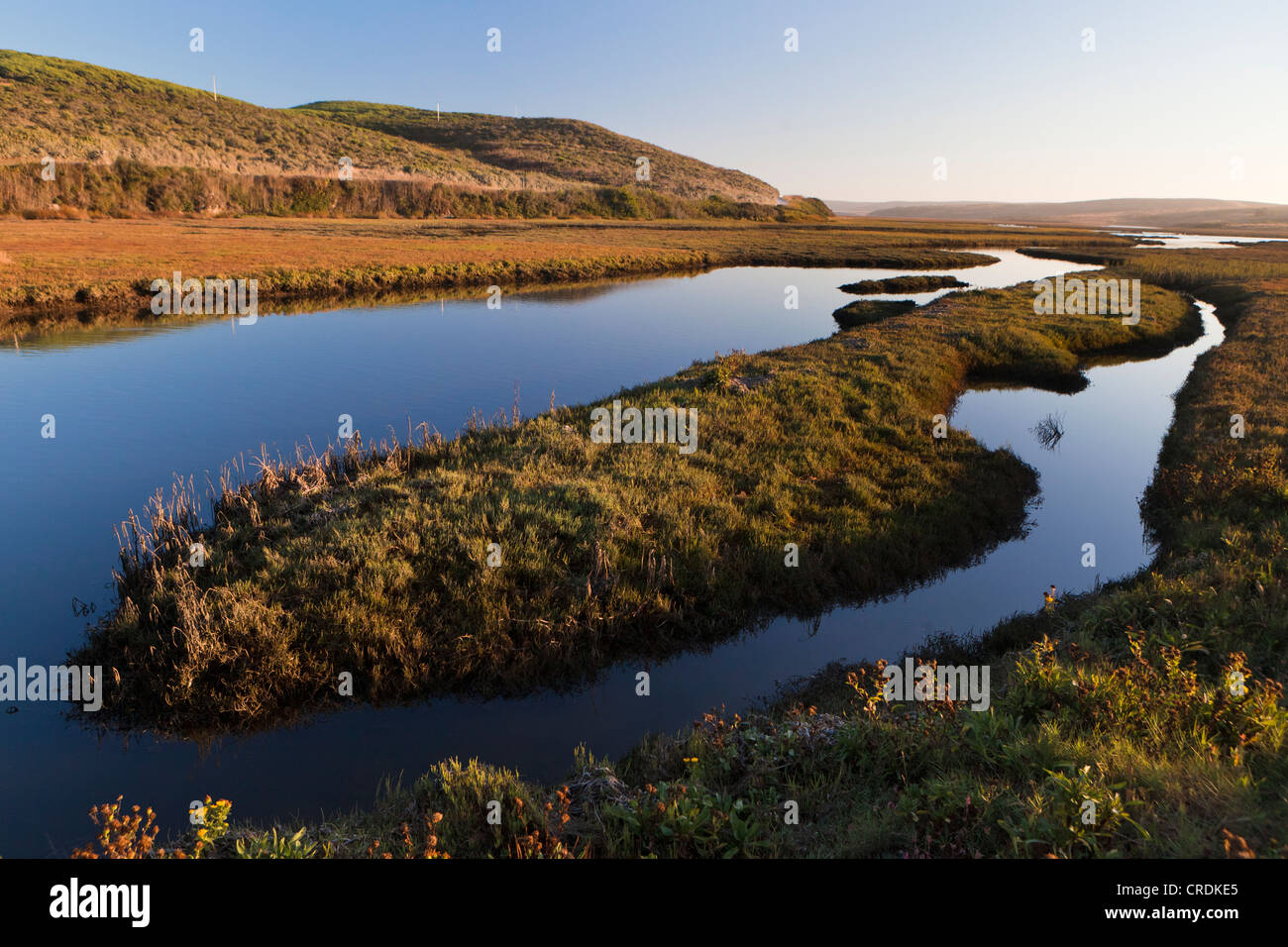 Schooner Bay, part of Drakes Estero, an estuary which drains the largest part of the Point Reyes Peninsula, Point - Stock Image