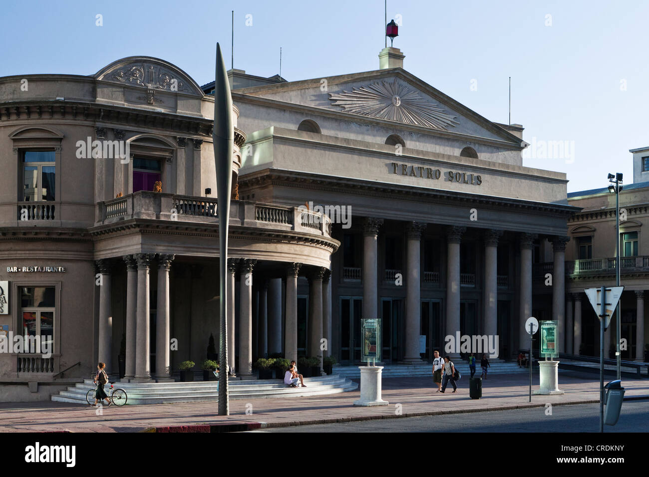 Teatro Solis, Solis Theatre, the oldest theater in Uruguay, built in 1856, at the Plaza Independencia, Montevideo, - Stock Image