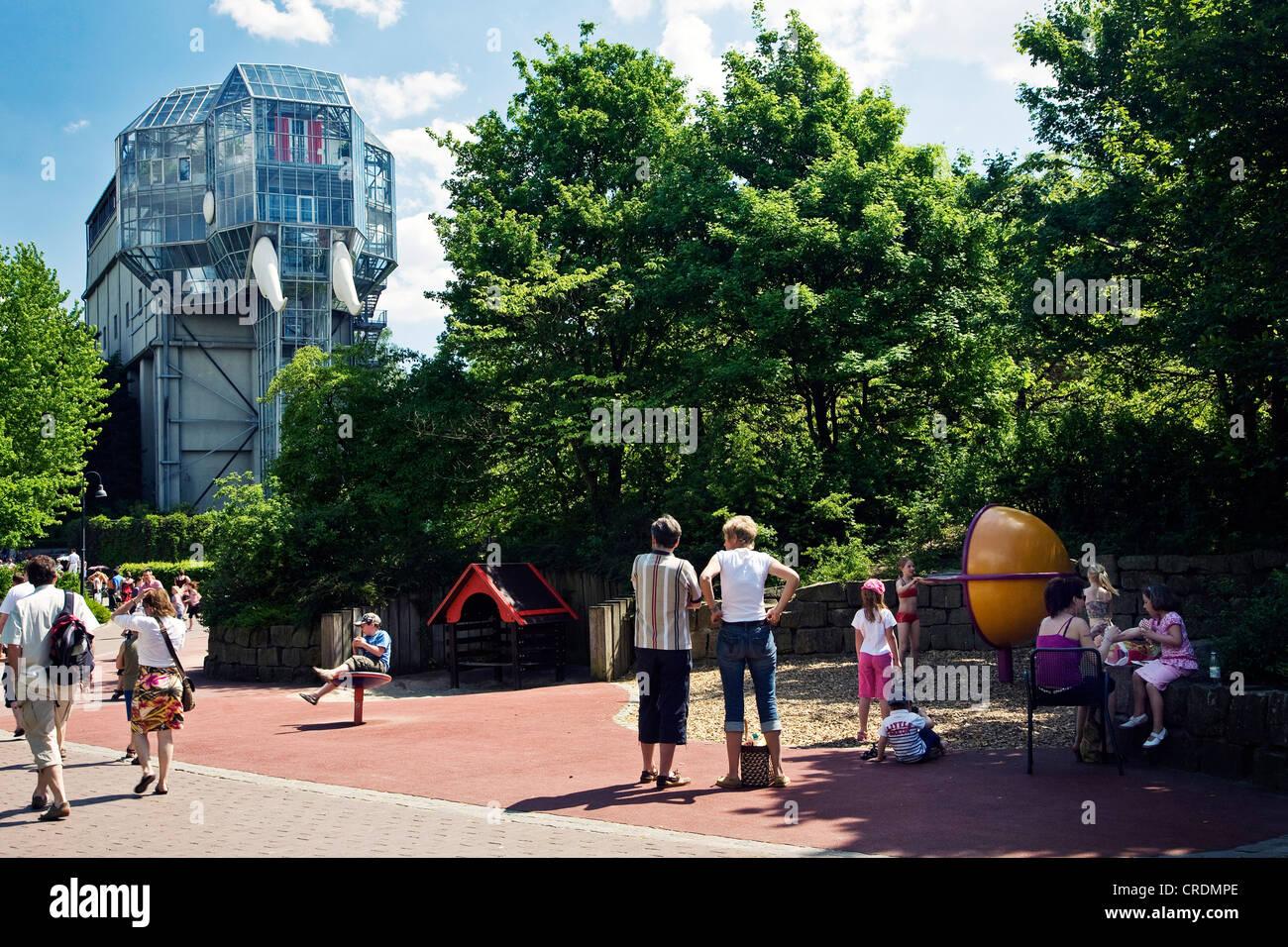 visitors in the Maximilianpark, Germany, North Rhine-Westphalia, Ruhr Area, Hamm - Stock Image