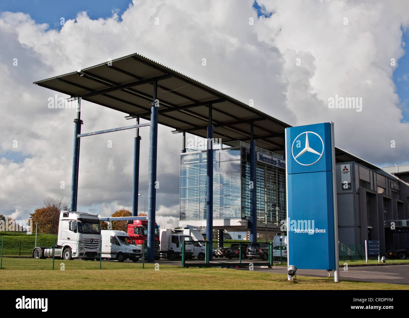 Branch of Mercedes Benz in Riga, Latvia, Europe - Stock Image