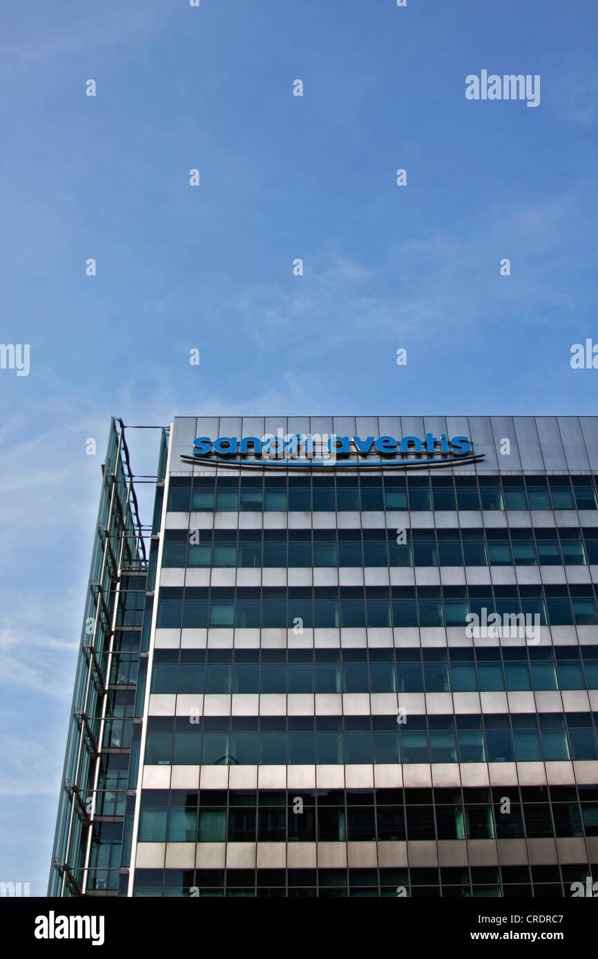 Sanofi Aventis building, a multinational pharmaceutical company, Berlin, Germany, Europe - Stock Image