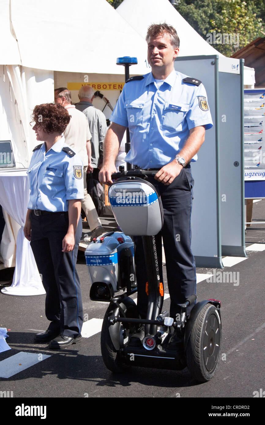 Policeman on a Segway, 60th anniversary of the German Federal Police, Berlin, Germany, Europe - Stock Image