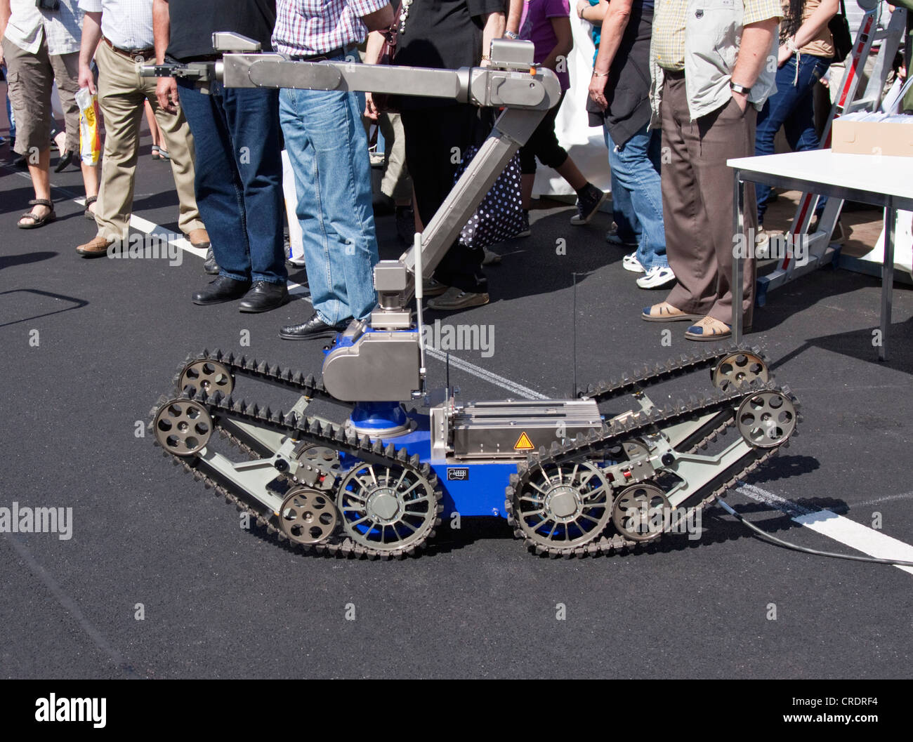 Police robot, bomb dismantling robot, remote controlled - Stock Image