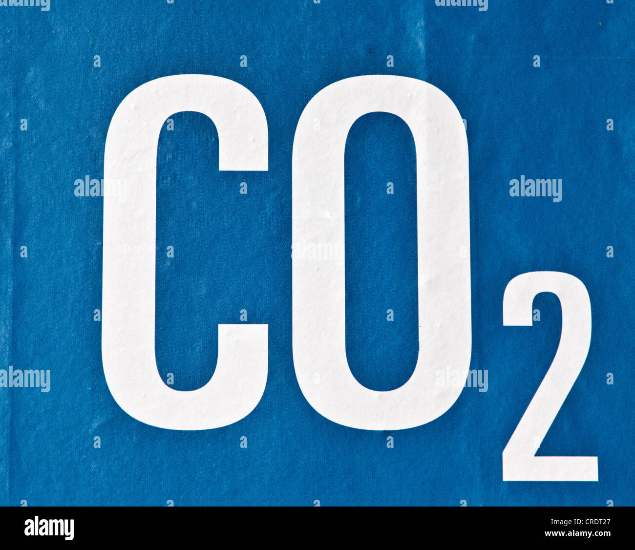 CO 2 or carbon dioxide - Stock Image