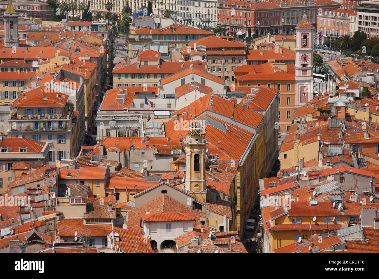 view over Nizza, France - Stock Image