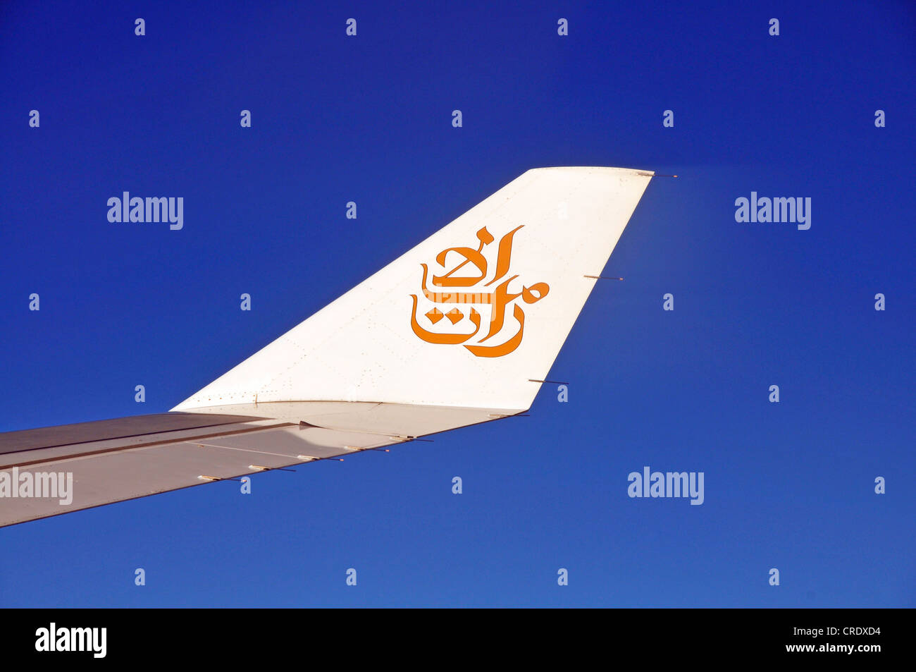 Right wing with winglet, Airbus 330-200, Emirates airline - Stock Image