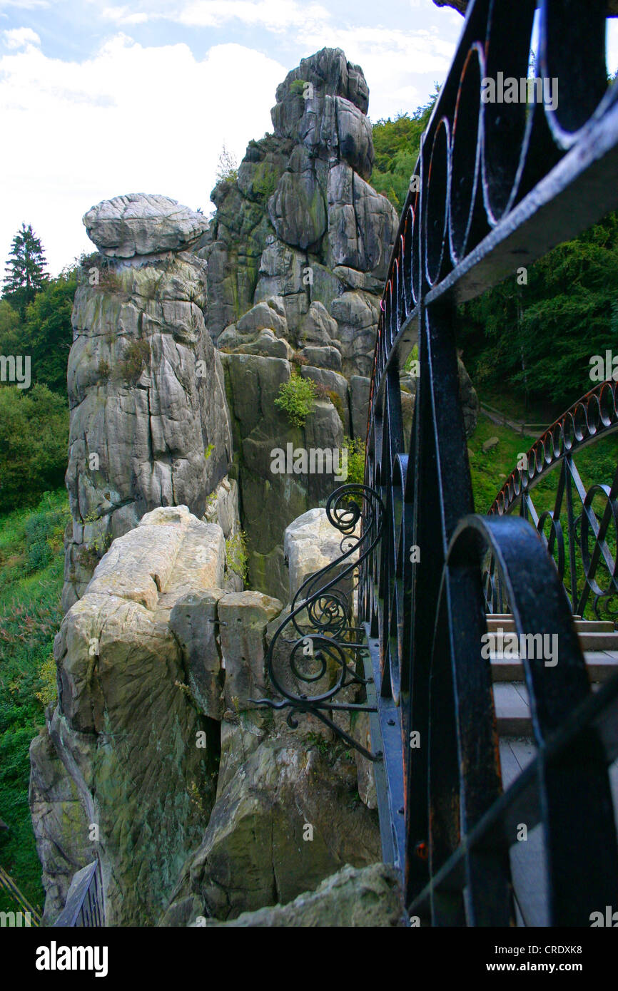 pedestrian bridge to the highest rock of the Externsteine