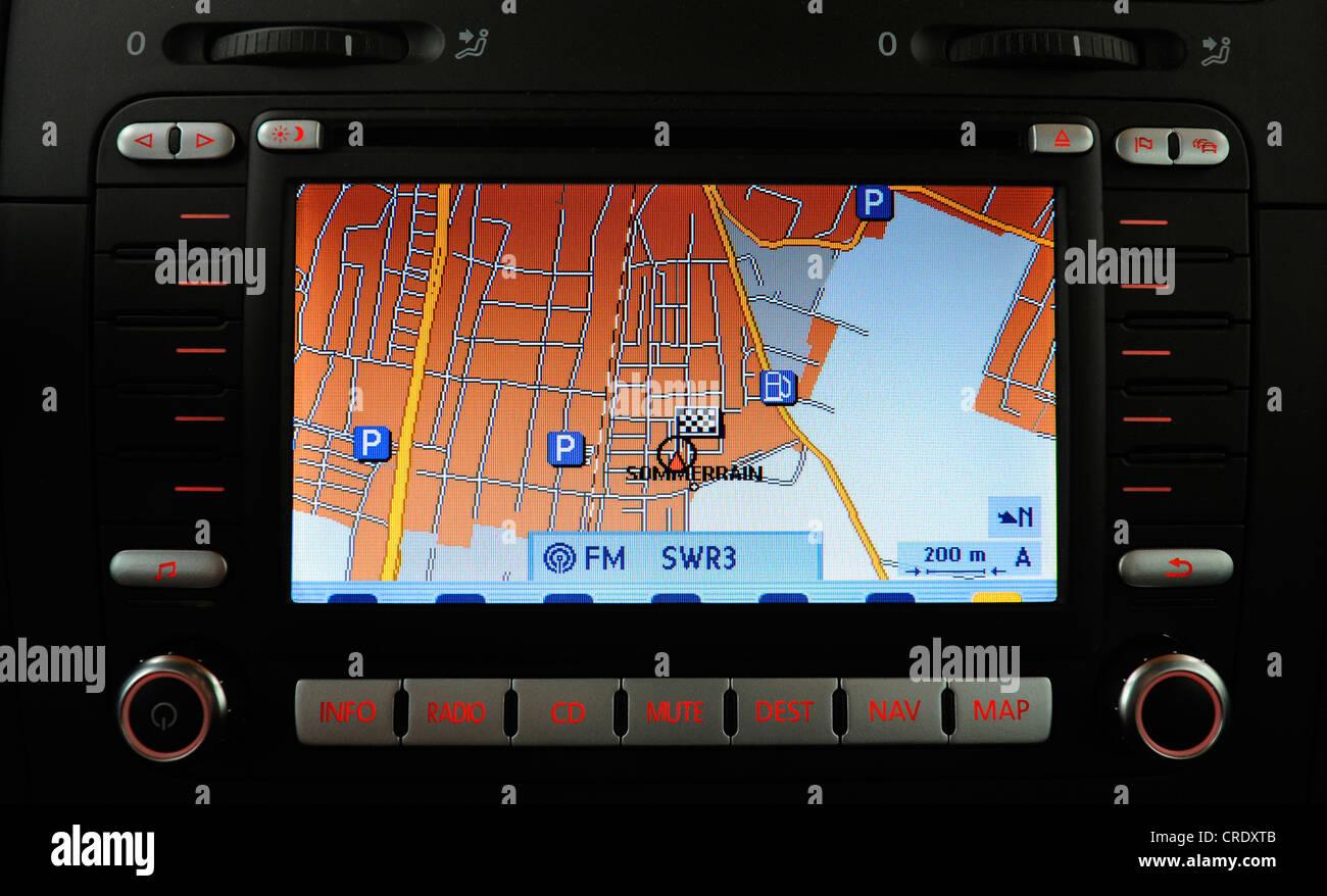 car navigation system - Stock Image