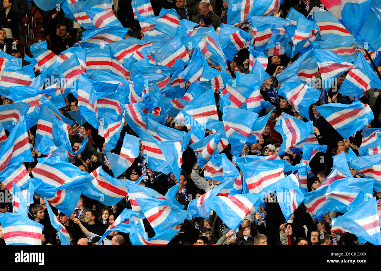 Stand With Fans Of Fc Hansa Rostock Stock Photo Alamy