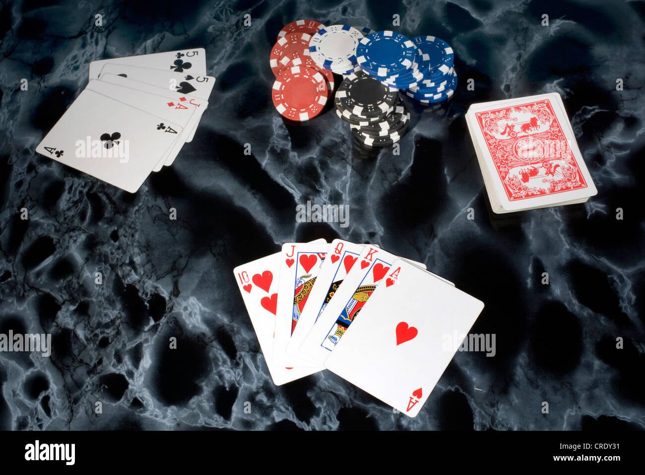 card game, poker - Stock Image