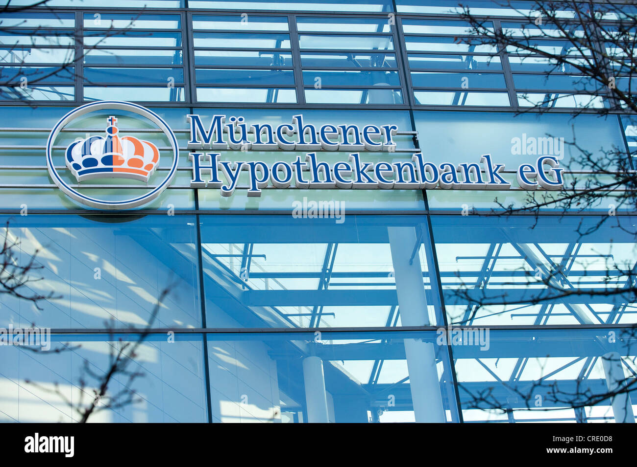 Muenchner Hypothekenbank e.G., Munich, Bavaria, Germany, Europe - Stock Image