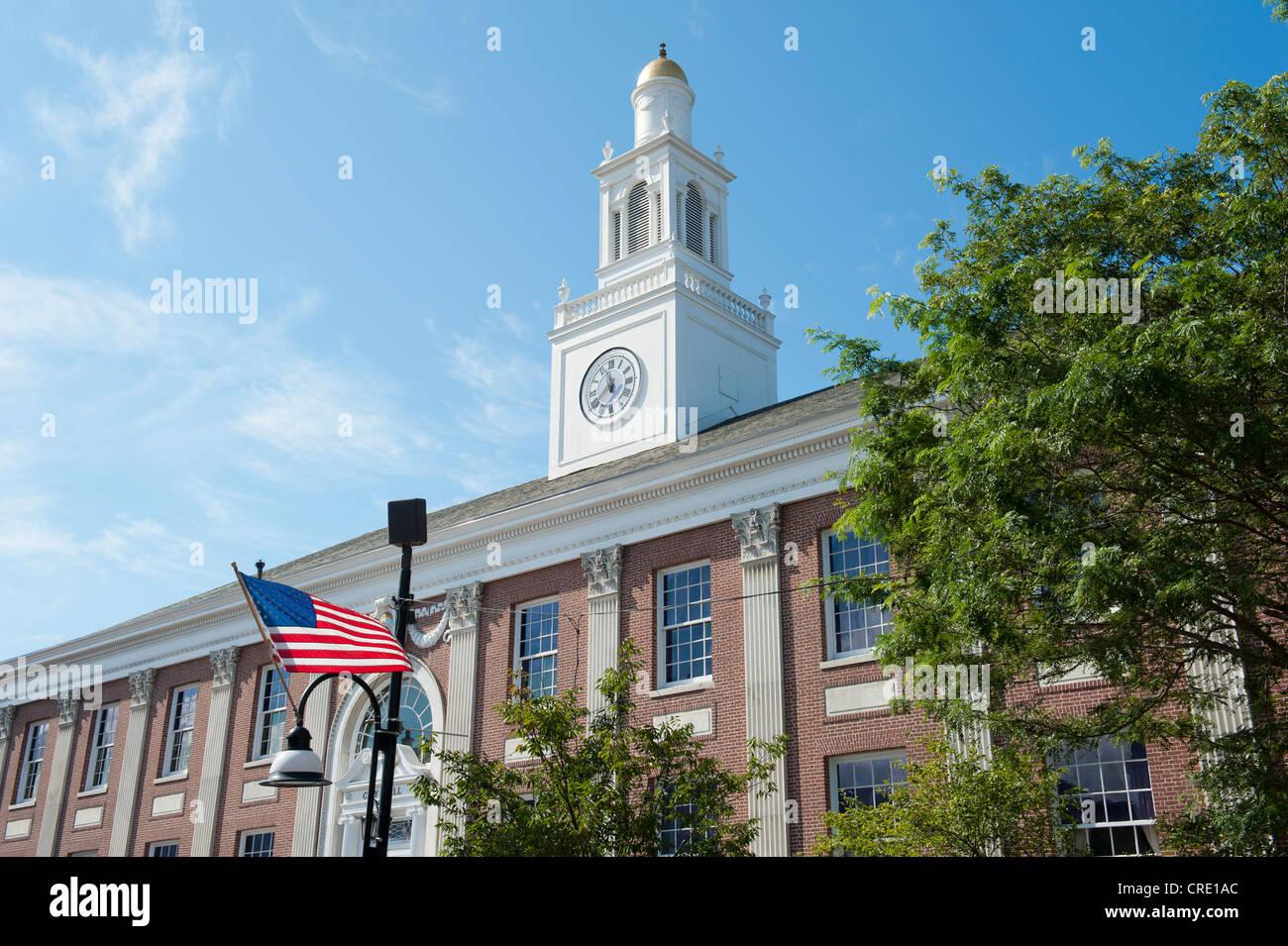 City Hall, Church Street, Burlington, Vermont, New England, USA, North America - Stock Image