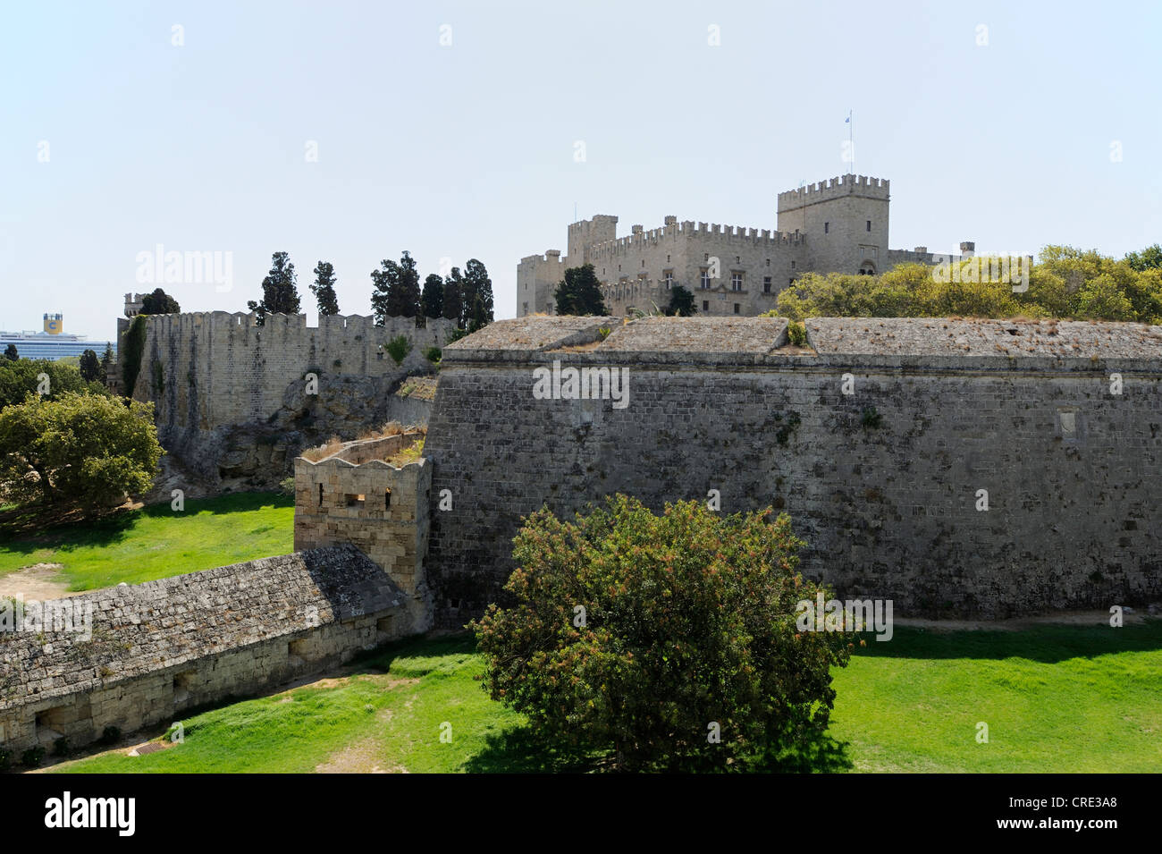 Palace of the Grand Master, Rhodes Town, Rhodes, Greece, Europe Stock Photo
