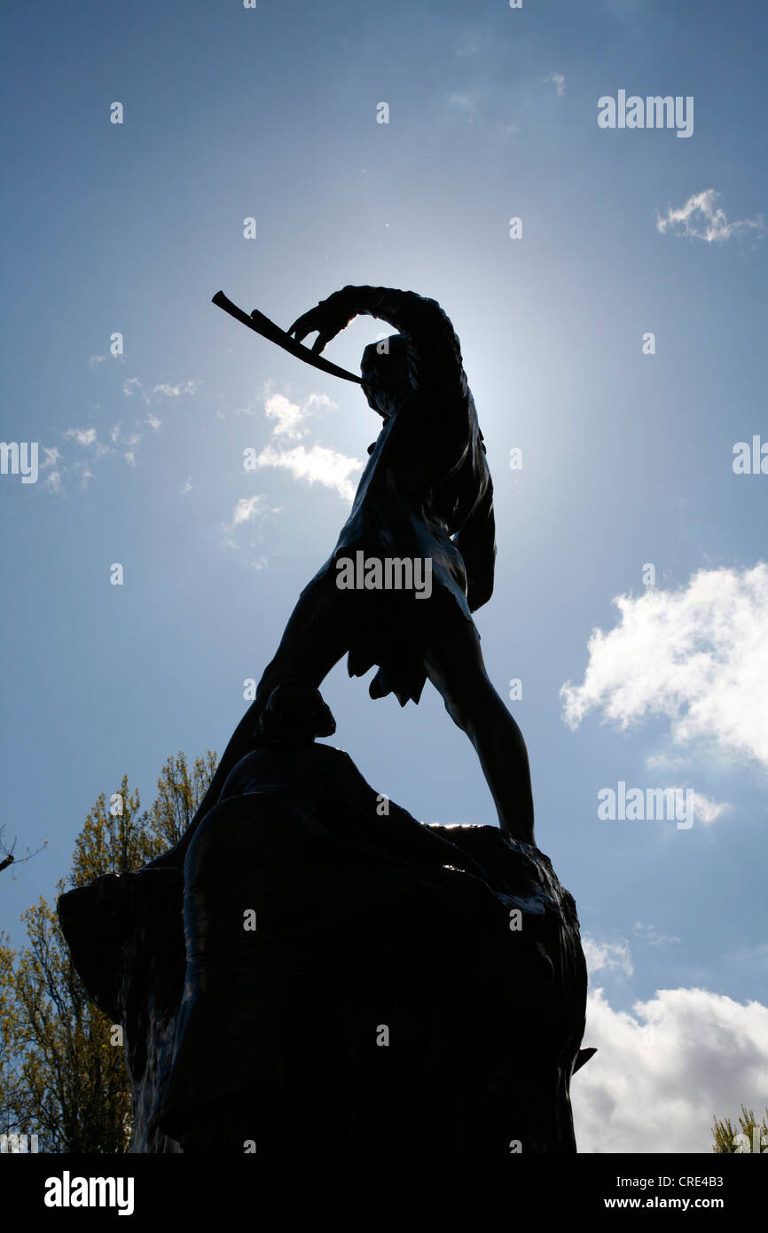 Peter Pan Statue In Kensington Gardens London UK