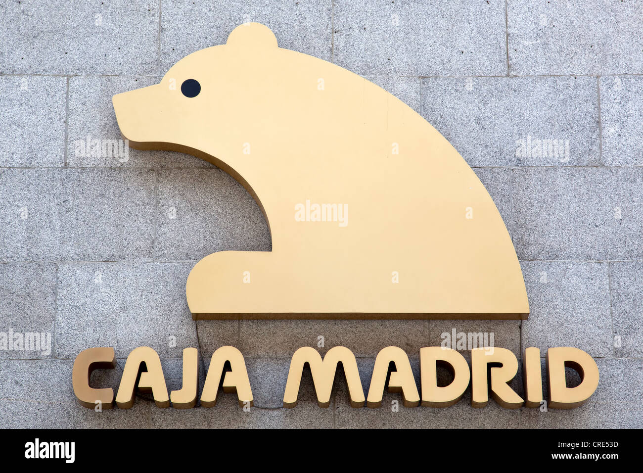 Logo and logotype of the bank Caja Madrid in Madrid, Spain, Europe - Stock Image