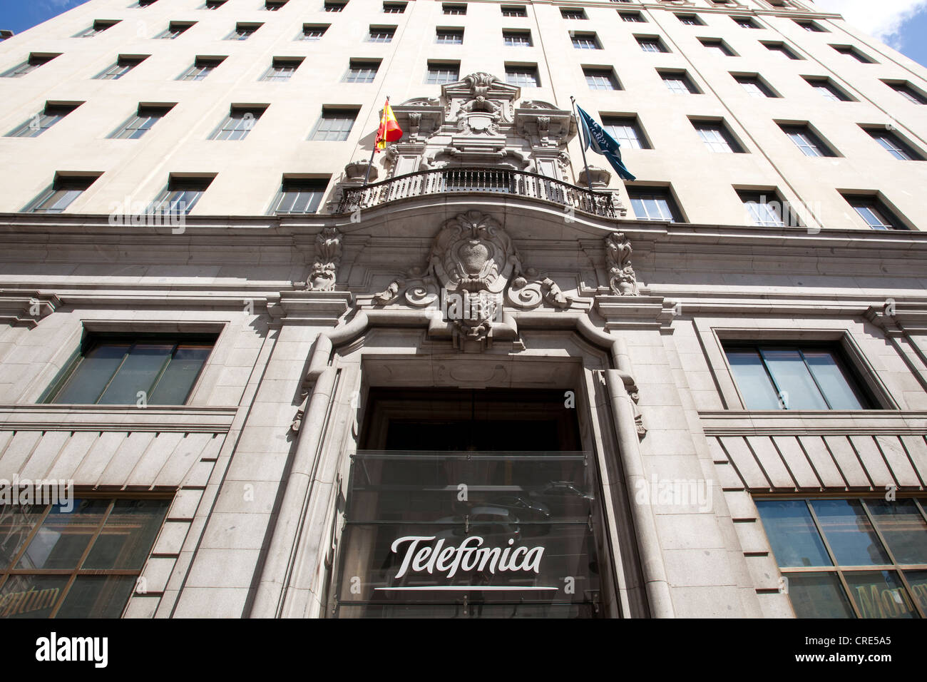 Headquarters of the Spanish telecommunications company Telefonica, Madrid, Spain, Europe - Stock Image