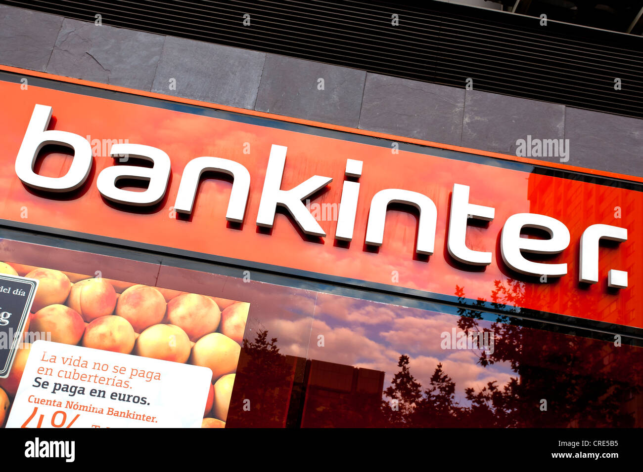 Logotype of the Spanish bank Bankinter, Banco Intercontinental Espanol, Madrid, Spain, Europe - Stock Image