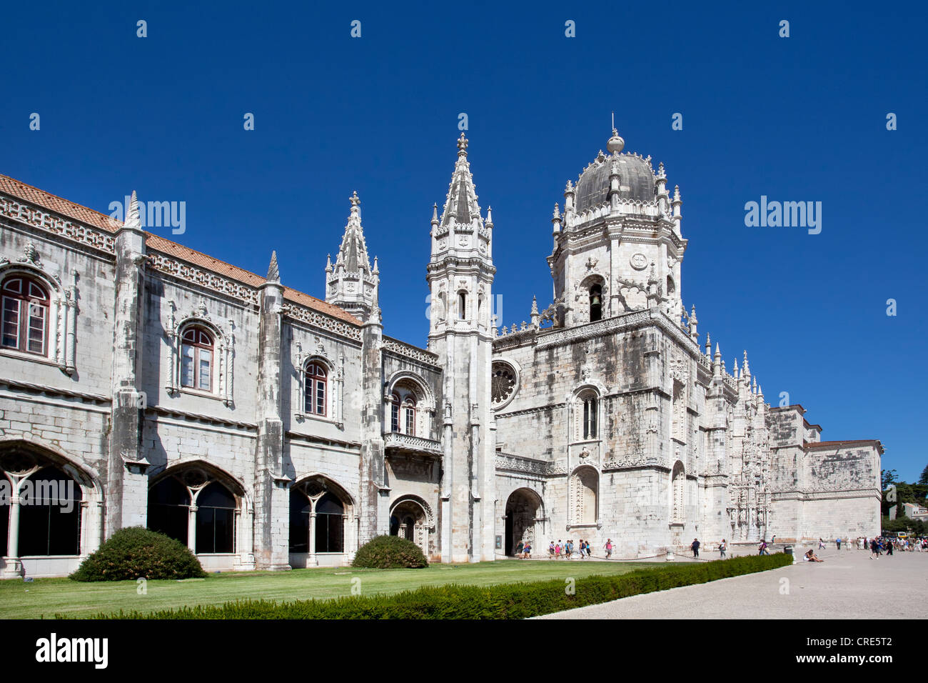 Hieronymus Monastery, Mosteiro dos Jeronimos, UNESCO World Heritage Site, in the district of Belem in Lisbon, Portugal, - Stock Image
