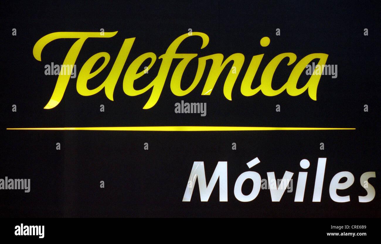 Logo of the Spanish telecommunications company Telefonica - Stock Image