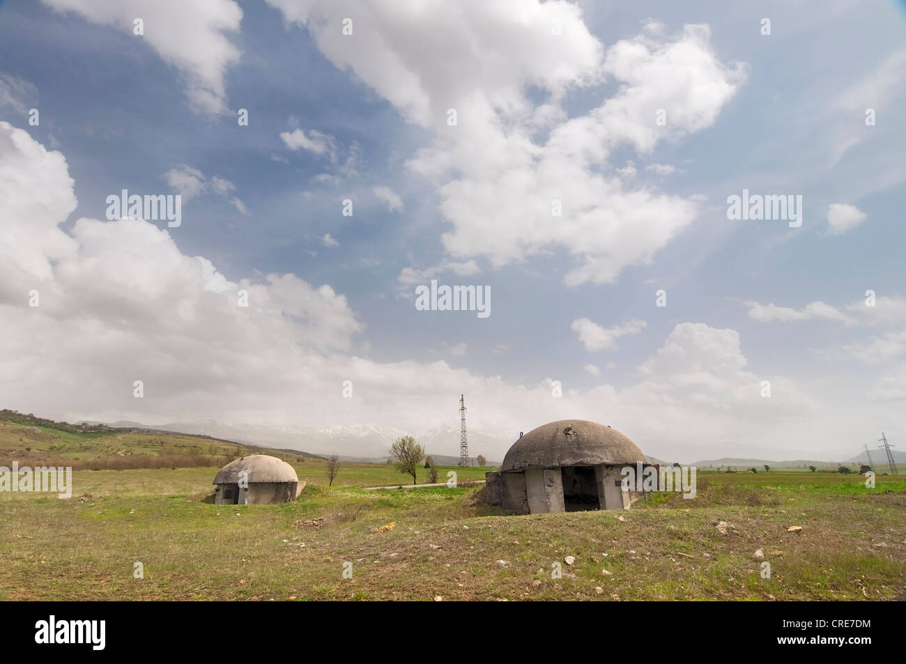Bunkers in Albania - Stock Image