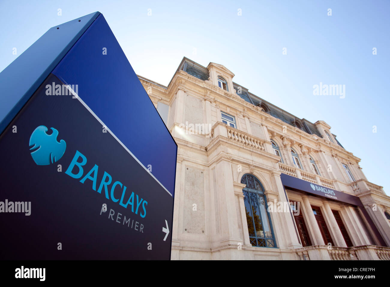 Branch of Barclays Premier bank in Palacio Sottomayor, Lisbon, Portugal, Europe - Stock Image