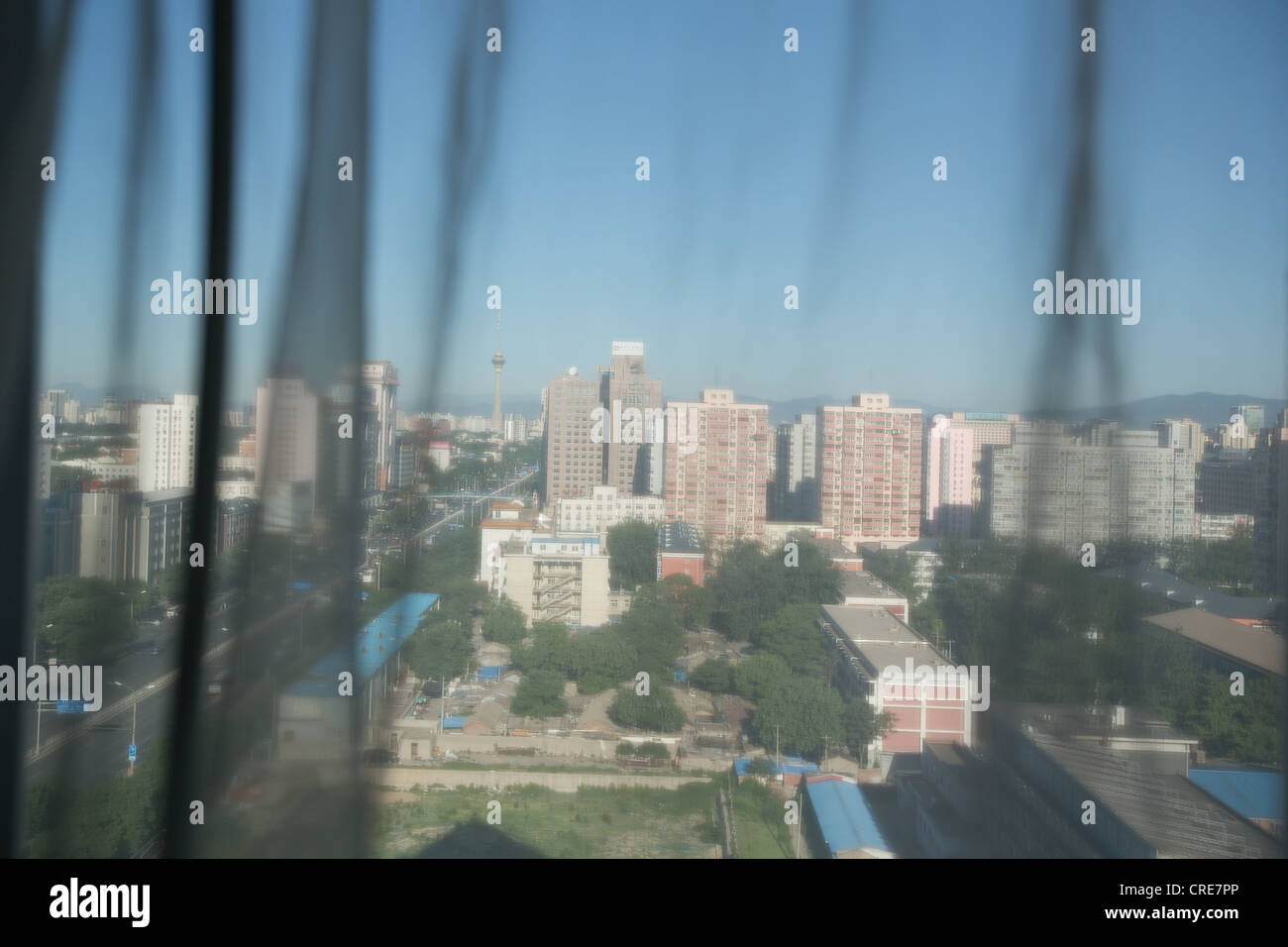 View from room in Presidential Hotel, in Beijing, China. - Stock Image