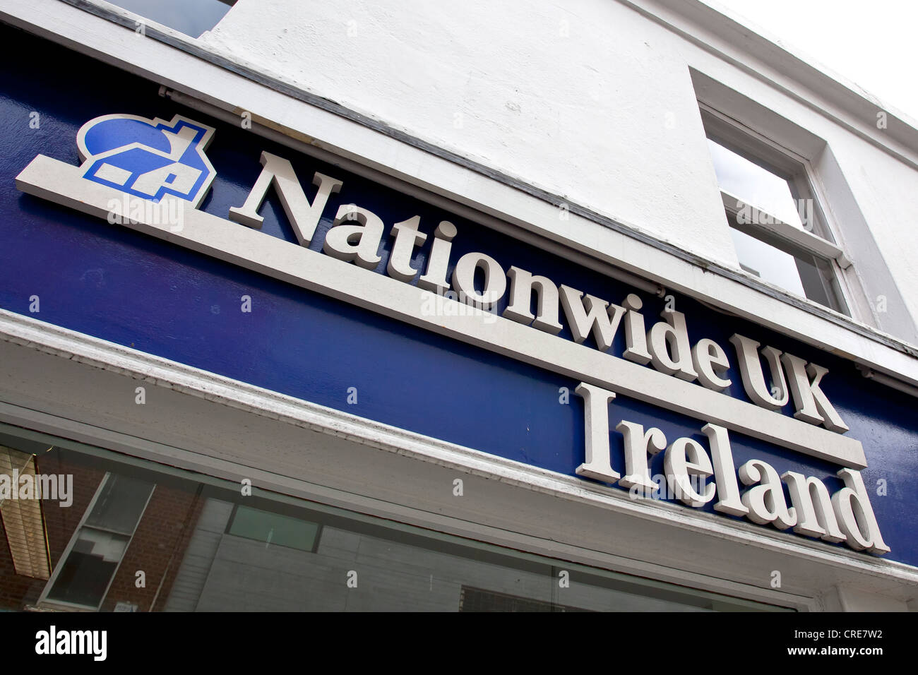 Logo on a branch of the Nationwide UK bank and building society in Dublin, Ireland, Europe - Stock Image