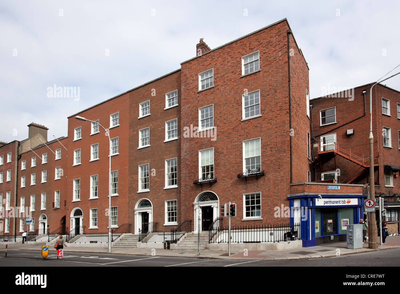 Headquarters of the Permanent TSB bank in Dublin, Ireland, Europe - Stock Image