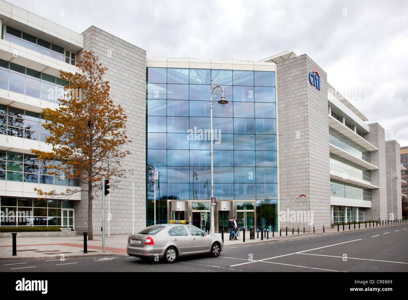 Headquarters of the Citi Bank, Dublin, Ireland, Europe - Stock Image