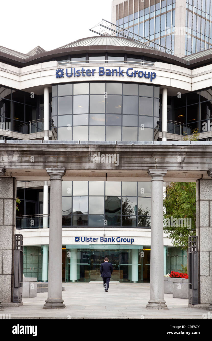 Headquarters of the Ulster Bank Group in the financial district in Dublin, Ireland, Europe - Stock Image