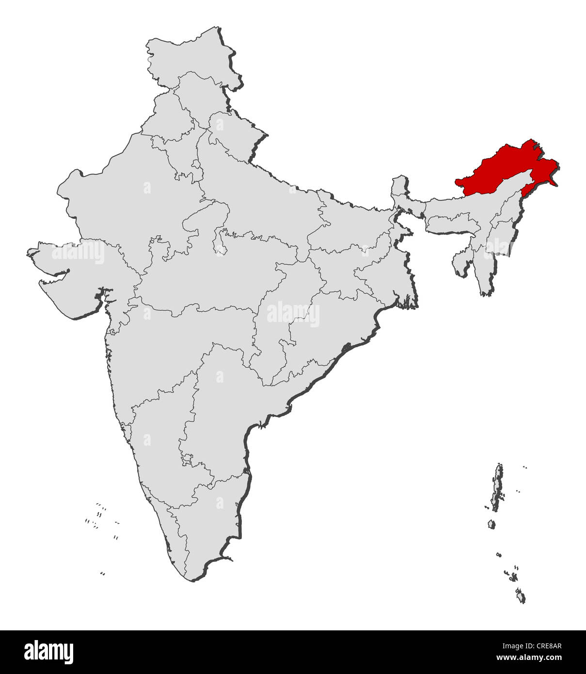 Political map india several pradesh stock photos political map political map of india with the several states where arunachal pradesh is highlighted stock gumiabroncs Choice Image