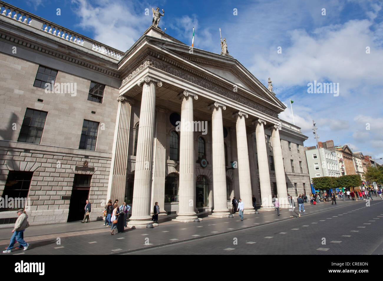 General Post Office, GPO, in O'Connell Street, Dublin, Ireland, Europe Stock Photo