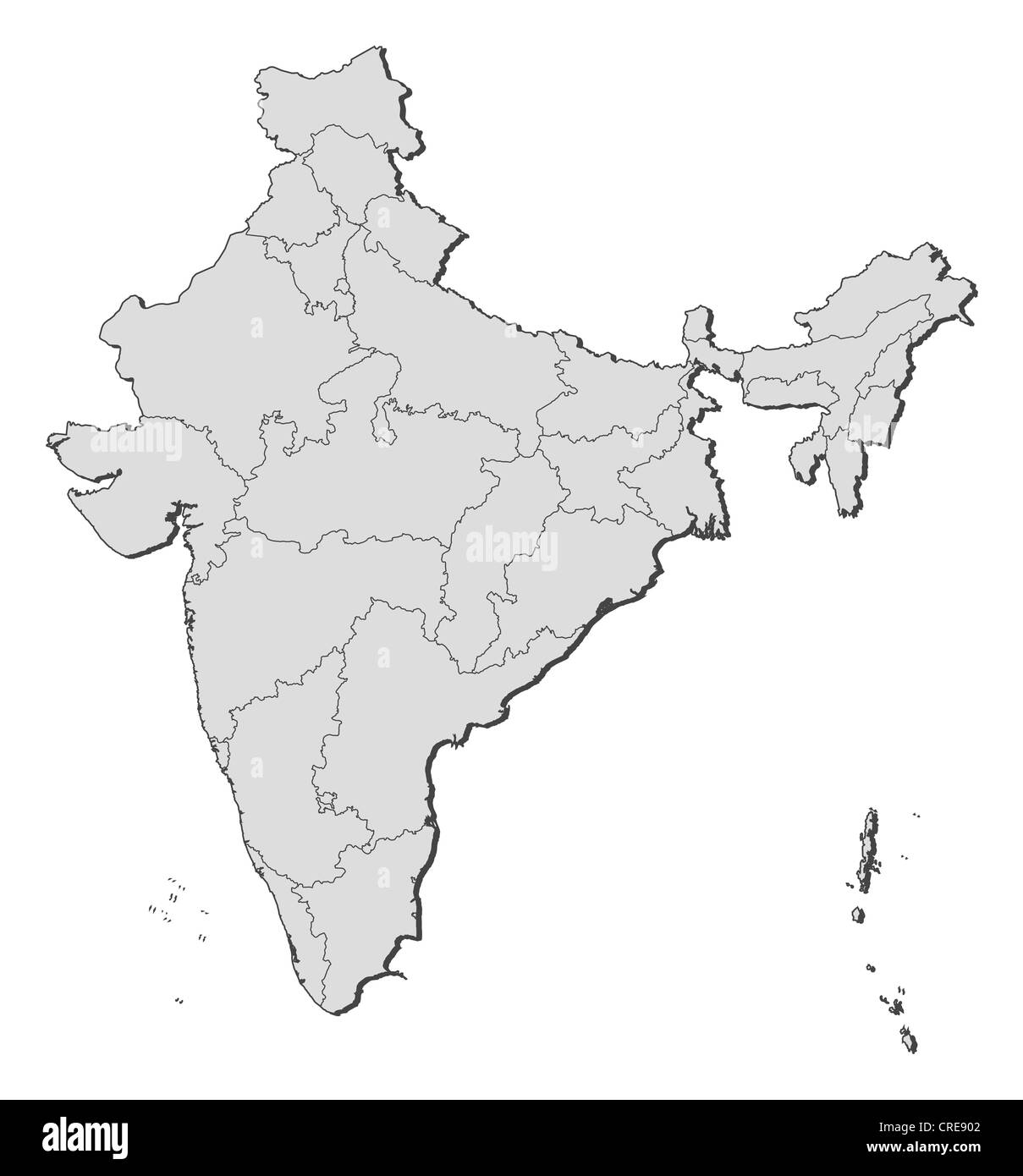 India Map With States Black and White Stock Photos & Images ... on india river map, india south asia map, texas county map black and white, india political map, river clip art black and white, india map with latitude and longitude, india map with city,