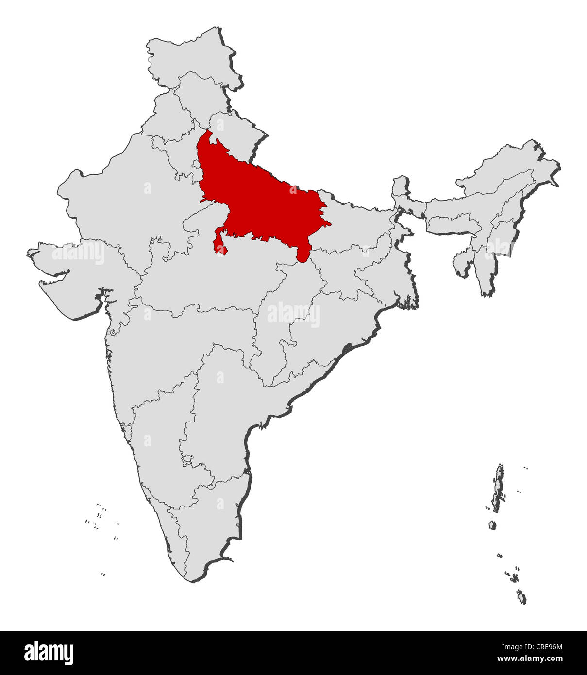 Political map of India with the several states where Uttar Pradesh on pitchers from india, top religions in india, world atlas, globe india, mountains in india, world continents india, world yoga day in india, digital technology in india, most beautiful places india, states of india, goa india, world maps before 1859, skype india, mumbai india, geography india, animals india, places in india, world from vietnam, kashmir india, people india,