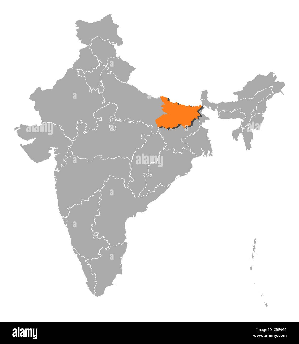 Bihar Map Vector Stock Photos Bihar Map Vector Stock Images Alamy