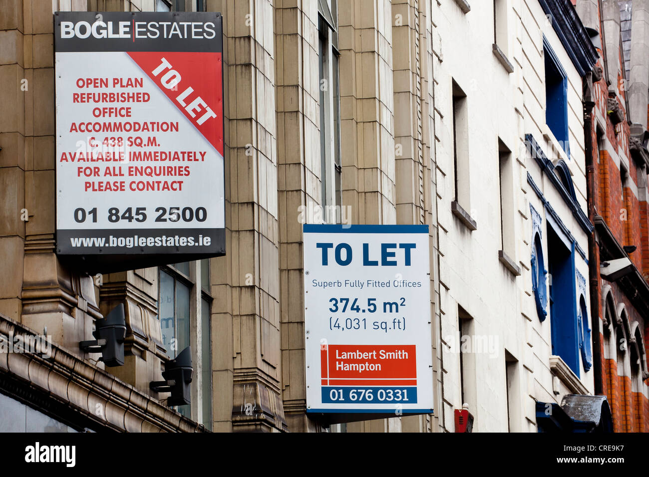 dublin office space. Signs For Offices To Let, Rent Office Space, In The Financial District, Dublin, Ireland, Europe Dublin Space