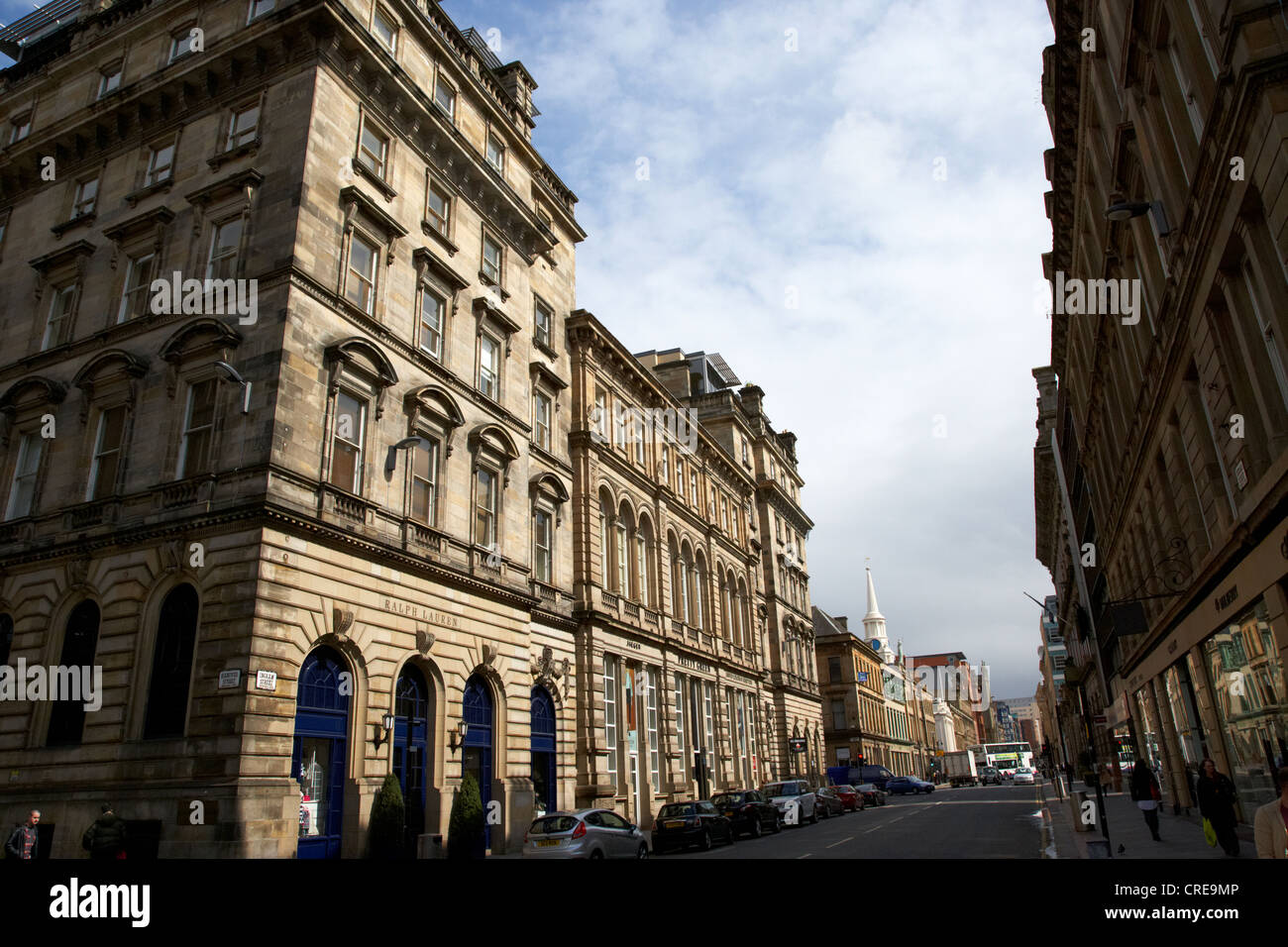 ingram street upmarket shopping street in merchant city glasgow scotland uk - Stock Image
