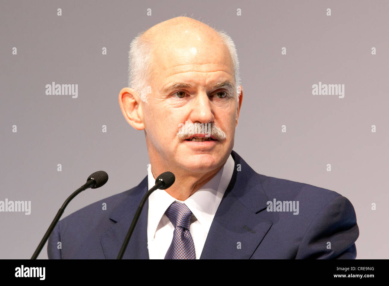 Giorgos Andrea Papandreou, Prime Minister of Greece, BDI day of German Industry, 27 September 2011 in Berlin, Germany, - Stock Image