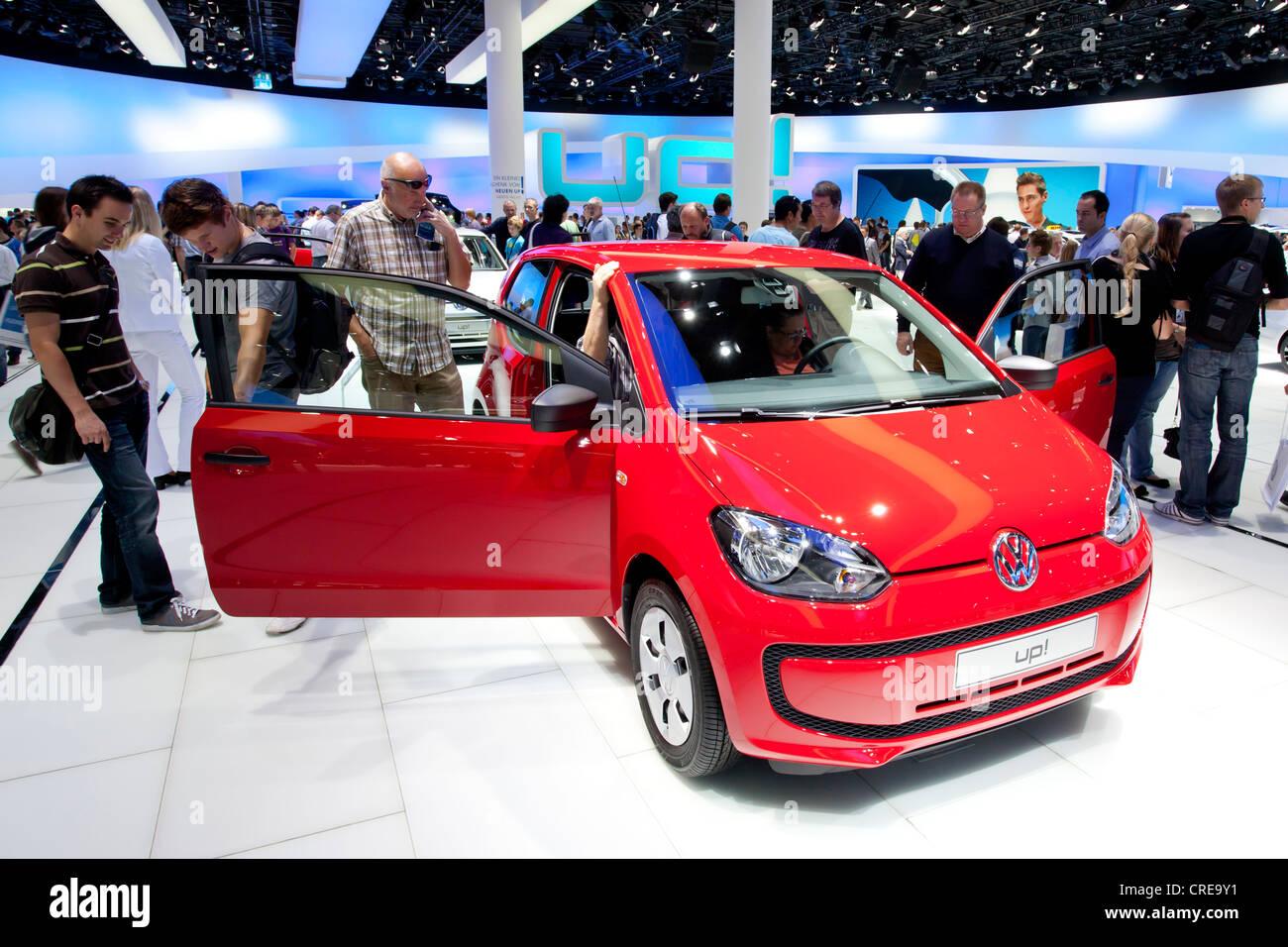 Volkswagen, VW up, 64th International Motor Show, IAA, 2011, Frankfurt am Main, Hesse, Germany, Europe - Stock Image