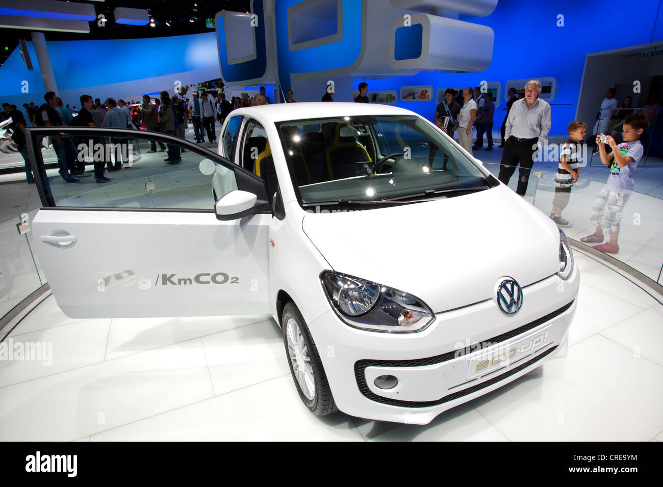 Volkswagen, VW Eco up, 64th International Motor Show, IAA, 2011, Frankfurt am Main, Hesse, Germany, Europe - Stock Image