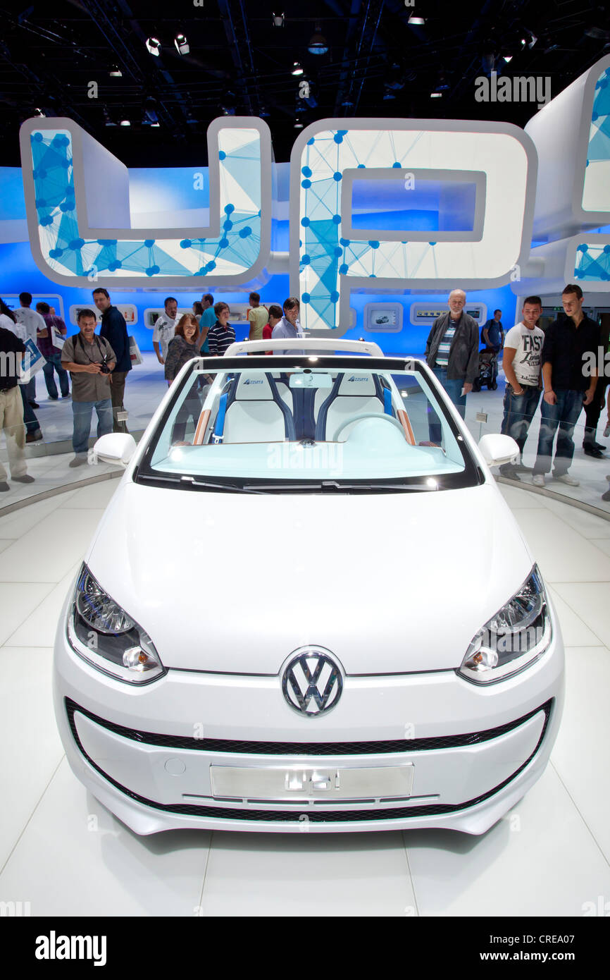 Volkswagen, VW up, convertible, 64th International Motor Show, IAA, 2011, Frankfurt am Main, Hesse, Germany, Europe - Stock Image