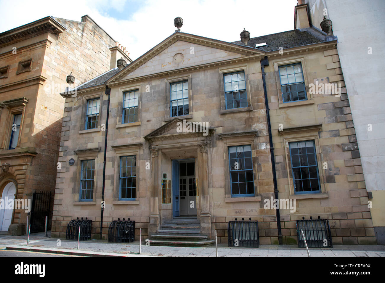 the tobacco merchants house designed by john craig in 1775 in merchant city glasgow scotland uk - Stock Image